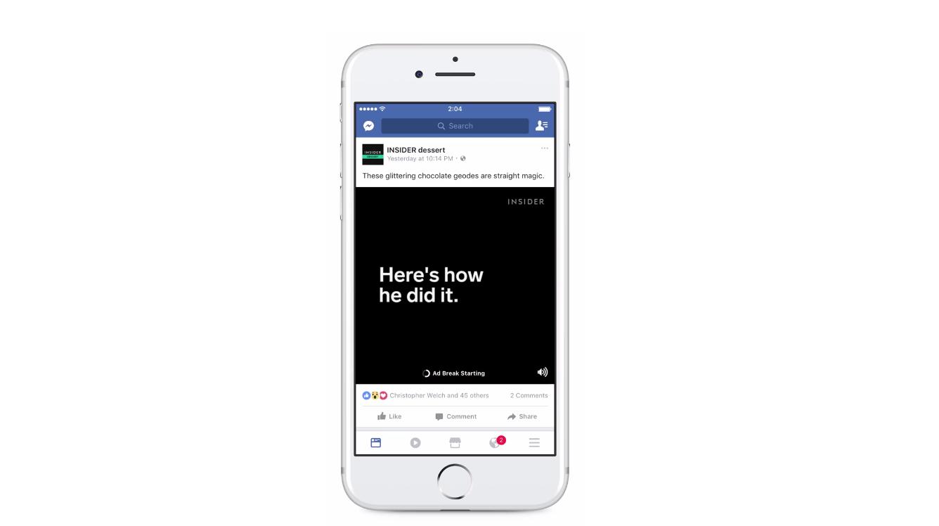Facebookインストリーム広告