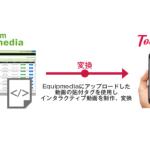Jストリームの「J-Stream Equipmedia」、インタラクティブ動画「Tou#cheee」と連携