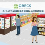 ヤフーら3社、「Yahoo!ショッピング」の商品を手に取って購入できる商品棚とデジタルサイネージ併設の次世代型店舗「QRECS」を開発