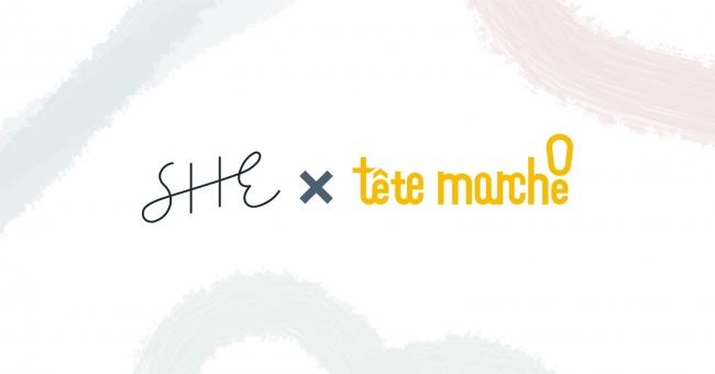 SHE、企業のSNS活用を支援する「テテマーチ」と広告クリエイティブ制作における協業を開始