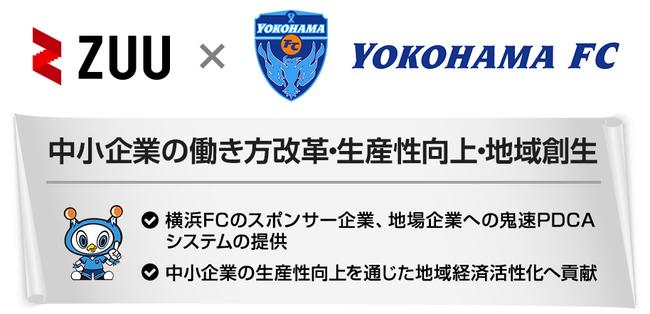 ZUU、横浜FCとスポンサー契約および業務提携
