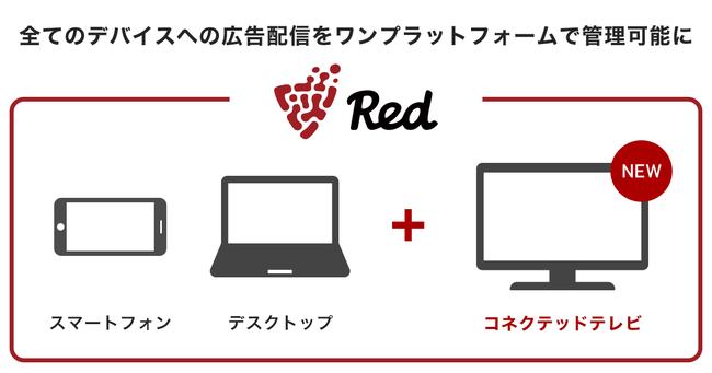 フリークアウトのマーケティングプラットフォーム「Red」、コネクテッドテレビへの広告配信を開始