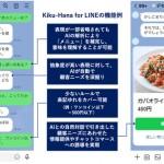 電通、LINEでの自然な対話を可能にするチャットボット「Kiku-Hana for LINE」を提供開始