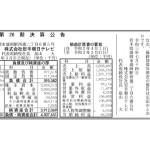 岩手朝日テレビ、2021年3月期(26期)決算 〜資本金の減資で中小企業化〜