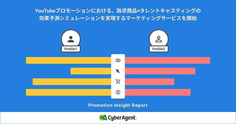 サイバーエージェント、YouTubeプロモーションにおける訴求商品×タレントキャスティングの効果予測シミュレーションを実現するマーケティングサービスを開始